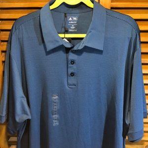 Adidas ClimaLite Golf Polo Shirt 4 Button ShortSlv